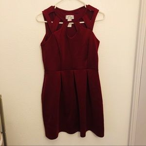 Burgundy Sweet Storm Dress